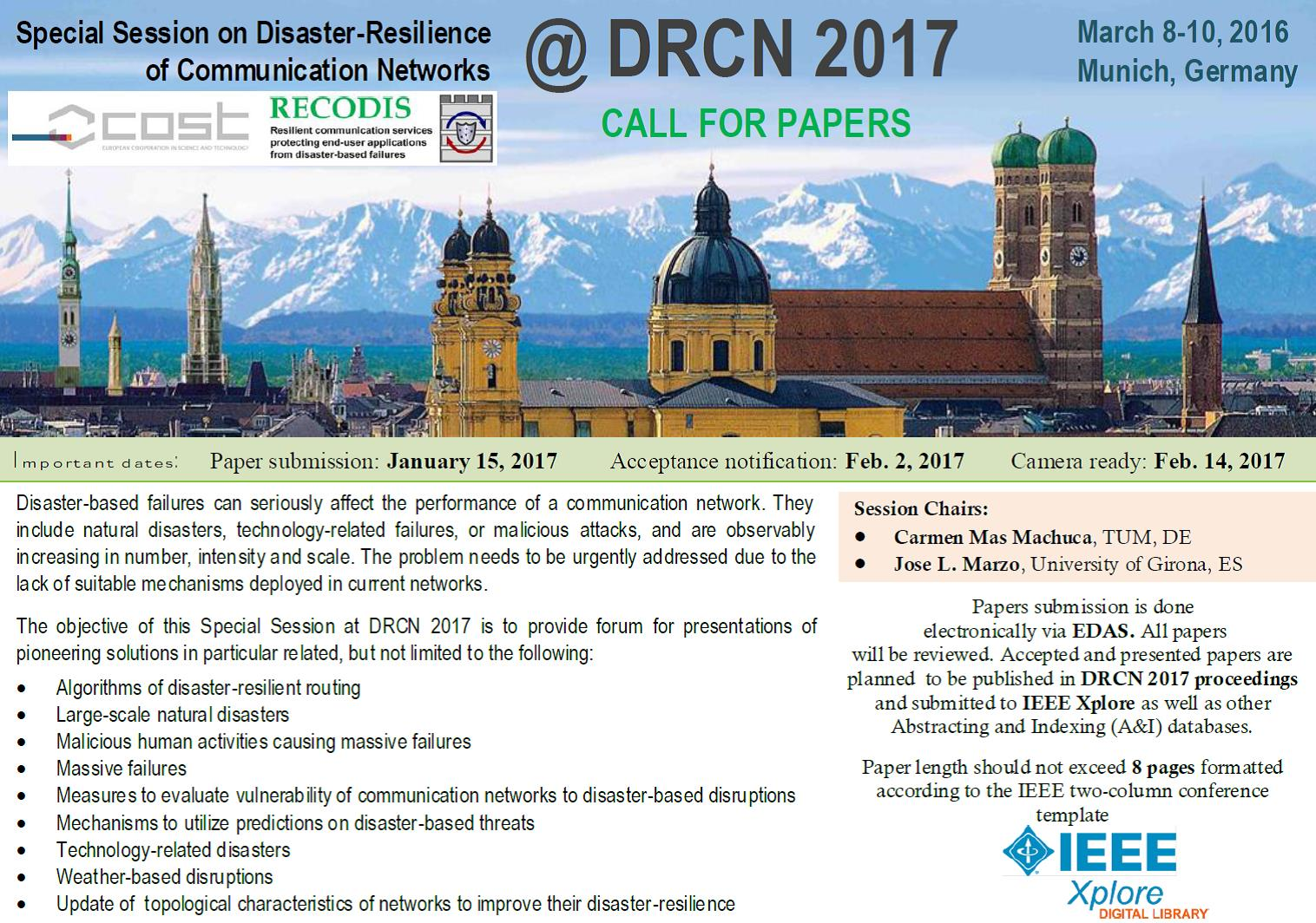 Call for Paper for subconference RECORDIS at DRCN 2017