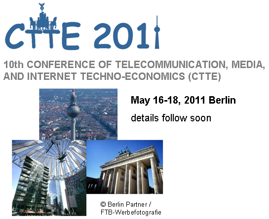 10th Conference of telecommunication, media, and internet techno-economics